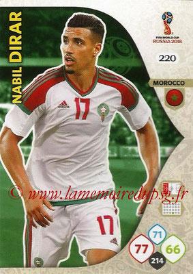 2018 - Panini FIFA World Cup Russia Adrenalyn XL - N° 220 - Nabil DIRAR (Maroc)