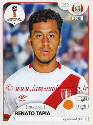 2018 - Panini FIFA World Cup Russia Stickers - N° 243 - Renato TAPIA (Pérou)
