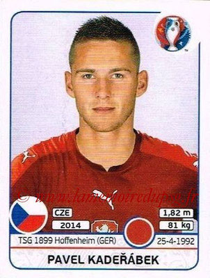 Panini Euro 2016 Stickers - N° 386 - Pavel KADERABEK (République Tchèque)