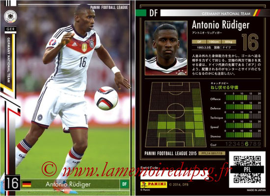 Panini Football League 2015 - PFL14 - N° 081 - Antonio RÜDIGER (Allemagne)