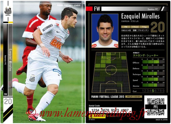 Panini Football League 2013 - PFL01 - N° 110 - Ezequiel Miralles ( Santos FC )