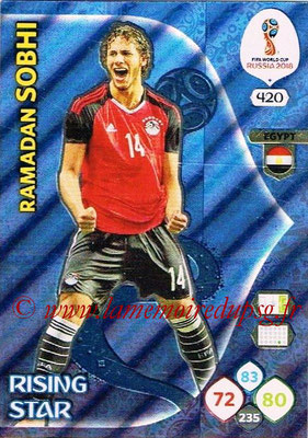 2018 - Panini FIFA World Cup Russia Adrenalyn XL - N° 420 - Ramadan SOBHI (Egypte) (Rising Star)