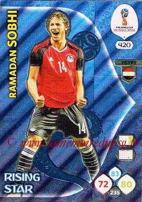 2018 - Panini FIFA World Cup Russia Adrenalyn XL - N° 420 - Ramadan SOBHI (Egypte) (Rising Star)