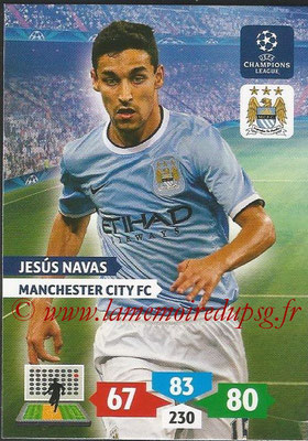 2013-14 - Adrenalyn XL champions League N° 169 - Jesus NAVAS (Manchester City FC)