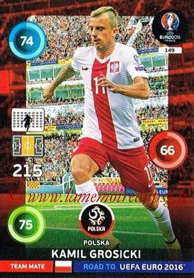 Panini Road to Euro 2016 Cards - N° 149 - Kamil GROSICKI ( Pologne)