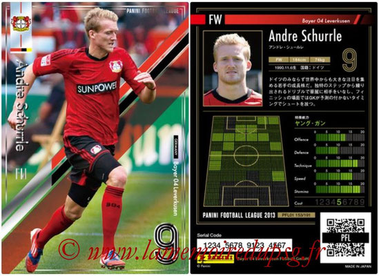 Panini Football League 2013 - PFL01 - N° 153 - Andre Schurrle ( Bayer 04 Leverkusen )