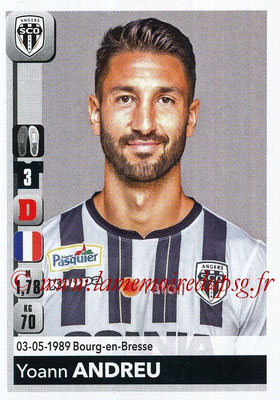 2018-19 - Panini Ligue 1 Stickers - N° 028 - Yoann ANDREU (Angers)
