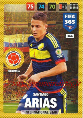 2016-17 - Panini Adrenalyn XL FIFA 365 - N° 344 - Santiago ARIAS (Colombie) (International Star)