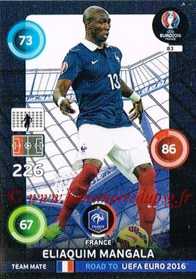 Panini Road to Euro 2016 Cards - N° 083 - Eliaquim MANGALA  (France)