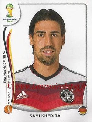 2014 - Panini FIFA World Cup Brazil Stickers - N° 496 - Sami KHEDIRA (Allemagne)