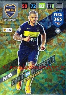 2017-18 - Panini FIFA 365 Cards - N° 014 - Dario BENEDETTO (Boca Juniors) (Fans' Favourite))