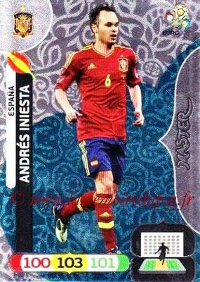 Panini Euro 2012 Cards Adrenalyn XL - N° 284 - Andrès INIESTA (Espagne) (Master)