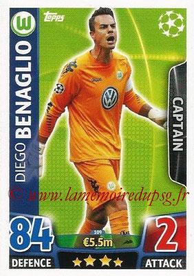 2015-16 - Topps UEFA Champions League Match Attax - N° 109 - Diego BENAGLIO (VFL Wolfsburg) (Captain)