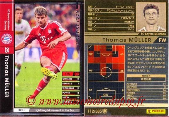 2013-14 - WCCF - N° 112 - Thomas MULLER (FC Bayern Munich)