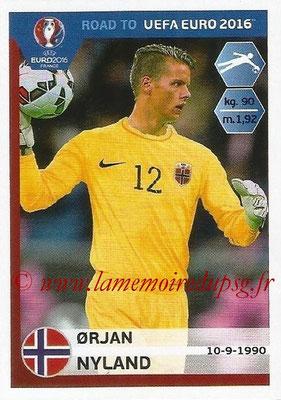 Panini Road to Euro 2016 Stickers - N° 177 - Orjan NYLAND (Norvège)
