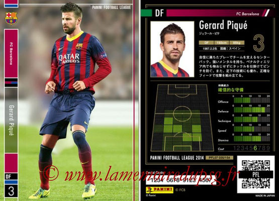 Panini Football League 2014 - PFL07 - N° 035 - Gerard PIQUE (FC Barcelone)