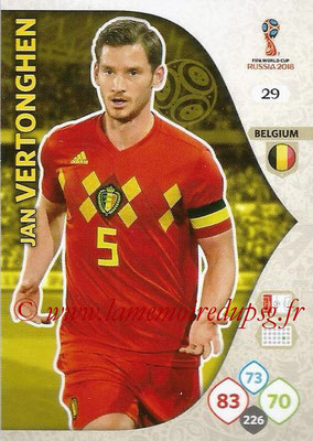 2018 - Panini FIFA World Cup Russia Adrenalyn XL - N° 029 - Jan VERTONGHEN (Belgique)