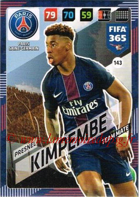 2017-18 - Panini FIFA 365 Cards - N° 143 - Presnel KIMPEMBE (Paris Saint-Germain)