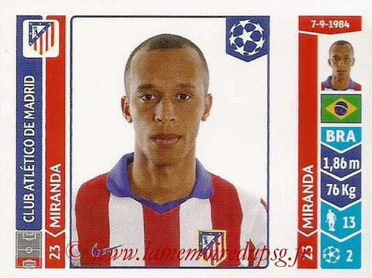 2014-15 - Panini Champions League N° 039 - MIRANDA  (Atletico Madrid)