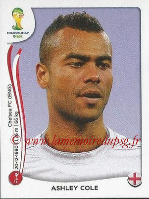 2014 - Panini FIFA World Cup Brazil Stickers - N° 301 - Ashley COLE (Angleterre)