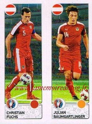 Panini Euro 2016 Stickers - N° 652 - Christian FUCHS + Julian BAUMGARTLINGER (Autriche)