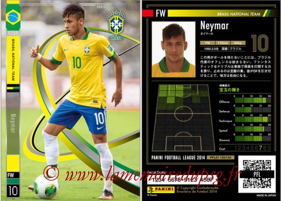 Panini Football League 2014 - PFL07 - N° 125 - NEYMAR (Bresil)