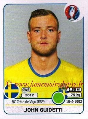 Panini Euro 2016 Stickers - N° 568 - John GUIDETTI (Suède)