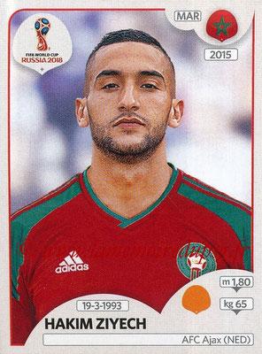2018 - Panini FIFA World Cup Russia Stickers - N° 166 - Hakim ZIYECH (Maroc)