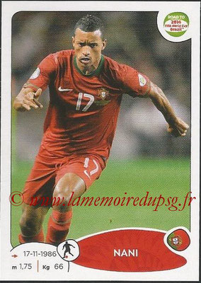 2014 - Panini Road to FIFA World Cup Brazil Stickers - N° 321 - NANI (Portugal)