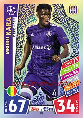 2017-18 - Topps UEFA Champions League Match Attax - N° 275 - Mbodji KARA (RCS Anderlecht) (Defensive Dynamo)