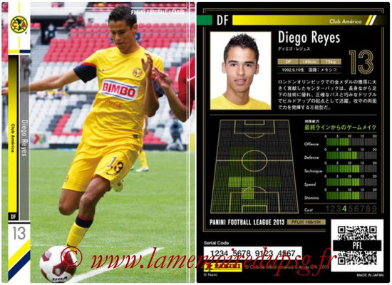 Panini Football League 2013 - PFL01 - N° 168 - Diego Reyes ( Club América )