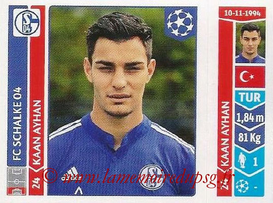 2014-15 - Panini Champions League N° 518 - Kaan AYHAN (FC Schalke 04)