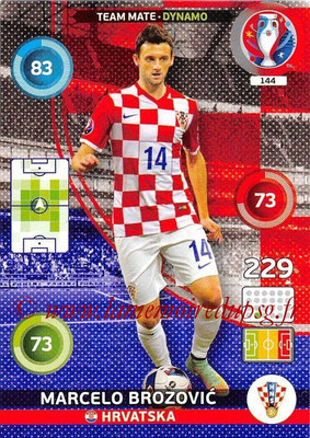 Panini Euro 2016 Cards - N° 144 - Marcelo BROZOVIC (Croatie) (Dynamo)