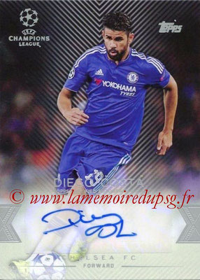 2015-16 - Topps UEFA Champions League Showcase Soccer - N° CLA-DC - Diego COSTA (Chelsea FC) (Base Autographs Cards)