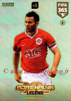 2017-18 - Panini FIFA 365 Cards - N° 002 - Ryan GIGGS (Manchester United) (Legend)
