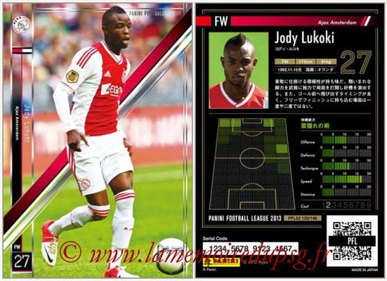 Panini Football League 2013 - PFL02 - N° 120 - Jody Lukoki ( Ajax Amsterdam )