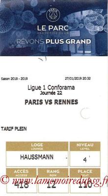 Tickets  PSG-Rennes  2018-19