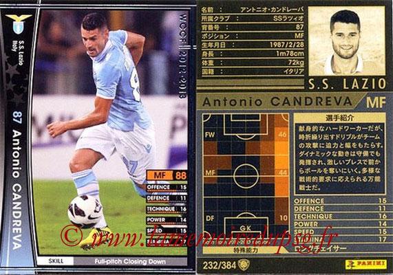 2012-13 - WCCF - N° 232 - Antonio CANDREVA (SS Lazio)
