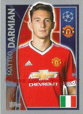 2015-16 - Topps UEFA Champions League Stickers - N° 106 - Matteo DARMIAN (Manchester United FC)