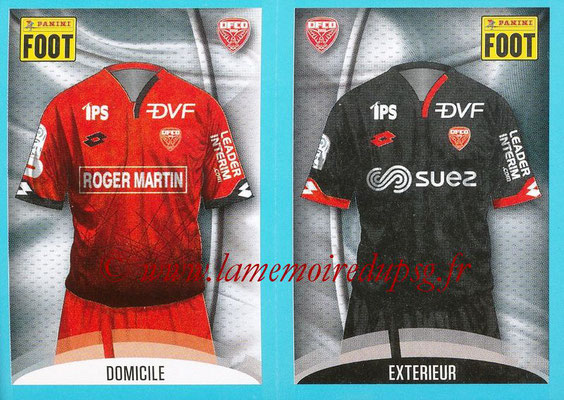 2016-17 - Panini Ligue 1 Stickers - N° 174 + 175 - Maillot Domicile + Extérieur (Dijon)