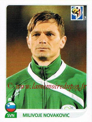 2010 - Panini FIFA World Cup South Africa Stickers - N° 256 - Milivoje NOVAKOVIC (Slovenie)