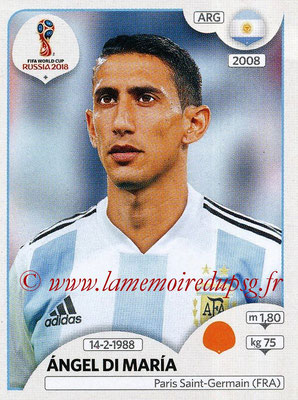 2018 - Panini FIFA World Cup Russia Stickers - N° 283 - Angel DI MARIA (Argentine)