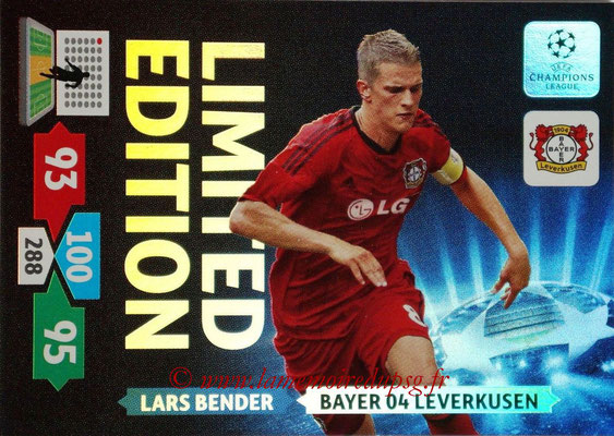 2013-14 - Adrenalyn XL champions League N° LE12 - Lars BENDER (Bayer 04 Leverkusen) (Limited Edition)
