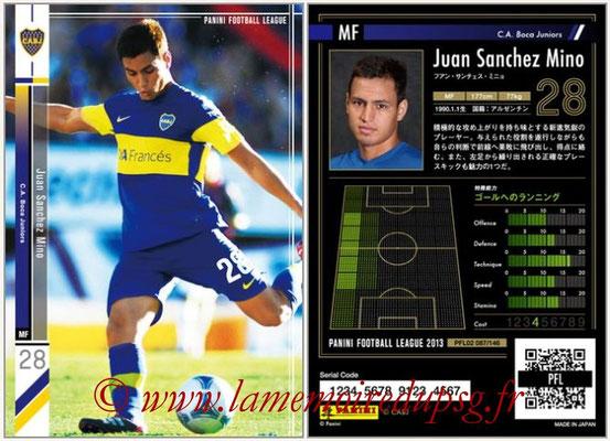 Panini Football League 2013 - PFL02 - N° 087 - Juan Sanchez Mino ( C.A. Boca Juniors )