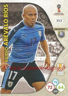 2018 - Panini FIFA World Cup Russia Adrenalyn XL - N° 353 - Egidio AREVALO RIOS (Uruguay)
