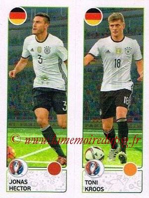 Panini Euro 2016 Stickers - N° 264 - Jonas HECTOR + Toni KROOS (Allemagne)