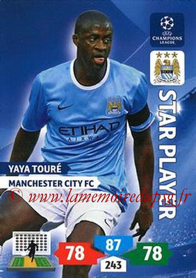 2013-14 - Adrenalyn XL champions League N° 168 - Yaya TOURE (Manchester City FC) (Star Player)