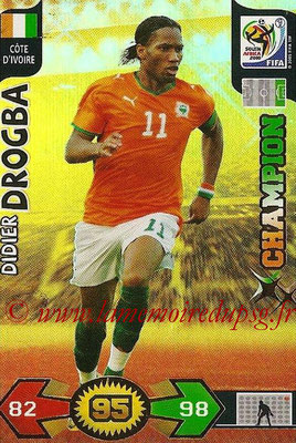2010 - Panini FIFA World Cup South Africa Adrenalyn XL - N° 072 - Didier DROGBA (Côte d'Ivoire) (Champion)