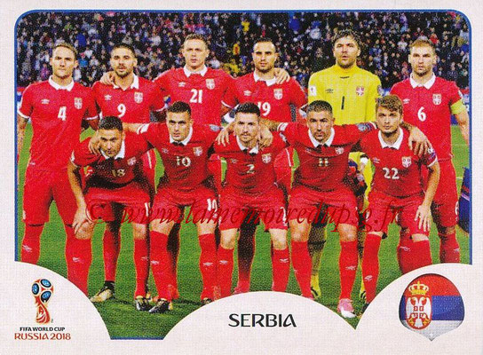 2018 - Panini FIFA World Cup Russia Stickers - N° 413 - Equipe Serbie