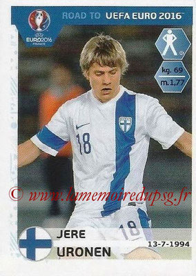 Panini Road to Euro 2016 Stickers - N° 324 - Jere URONEN (Finlande)